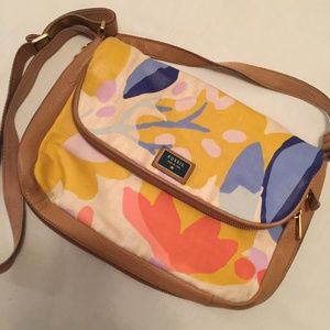 Fossil Floral Cowhide Leather Crossbody Bag Purse